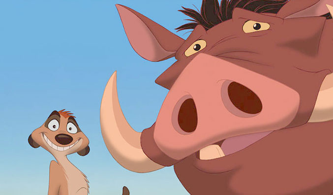 Timone and pumbaa